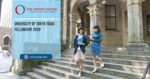 University of Tokyo Todai Fellowship 2020