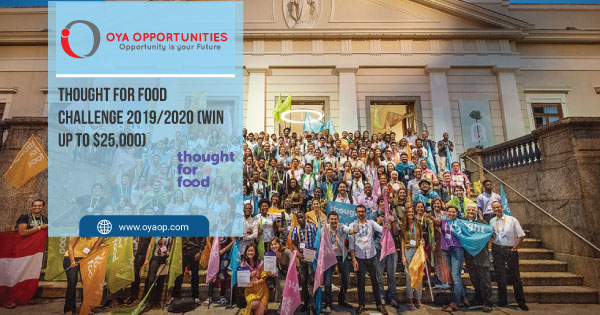 Thought for Food Challenge 2019/2020 (Win up to $25,000)