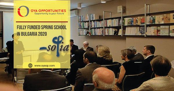 Fully Funded Spring School in Bulgaria 2020