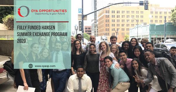 Fully Funded Hansen Summer Exchange Program 2020