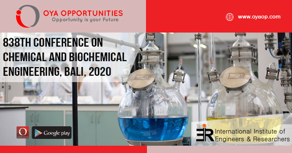 838th Conference on Chemical and Biochemical Engineering
