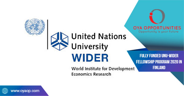 Fully Funded UNU-WIDER Fellowship Program 2020 in Finland