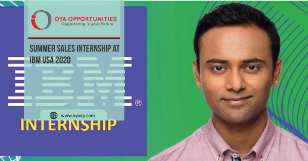 Summer Sales Internship at IBM USA 2020