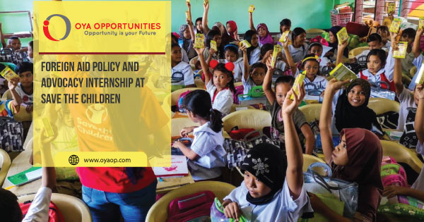 Foreign Aid Policy and Advocacy Internship at Save the Children