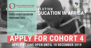 Funded Injini's Incubation Programme 2020