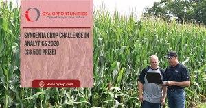 Syngenta Crop Challenge in Analytics 2020 ($8,500 Prize)