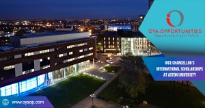 Vice Chancellor's International Scholarships at Aston University