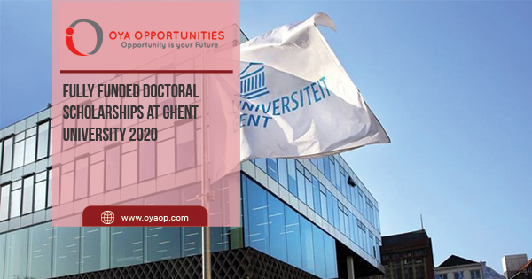 Fully Funded Doctoral Scholarships at Ghent University 2020