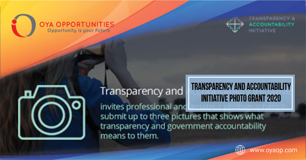 Transparency and Accountability Initiative Photo Grant 2020