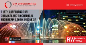 816th Conference on Chemical and Biochemical Engineering, 2020