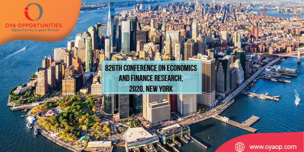 826th Conference on Economics and Finance Research, 2020, New York