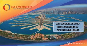 851st Conference on Applied Physics and Mathematics 2020, a conference is going to organize by The IIER in Sharjah, United Arab Emirates
