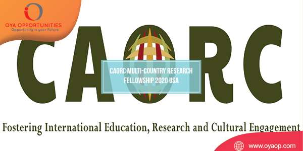 CAORC Multi-Country Research Fellowship 2020 USA