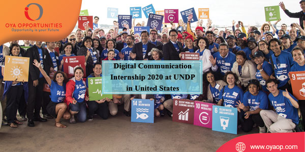 Digital Communication Internship 2020 at UNDP in United States