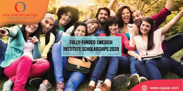 Fully-funded Swedish Institute Scholarships 2020