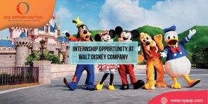 Internship Opportunity at Walt Disney Company in California