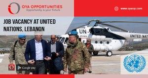 Job Vacancy at United Nations, Lebanon