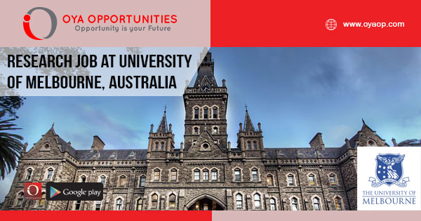 Research Job at University of Melbourne