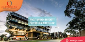 Research jobs at Monash University