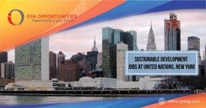 Sustainable Development Jobs at UN, New York