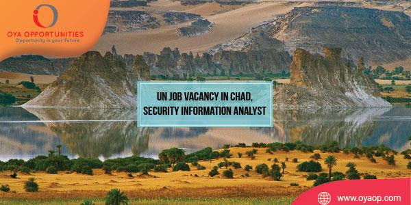 UN Job Vacancy in Africa, Security Information Analyst