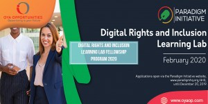 Digital Rights and Inclusion Learning Lab Fellowship Program 2020