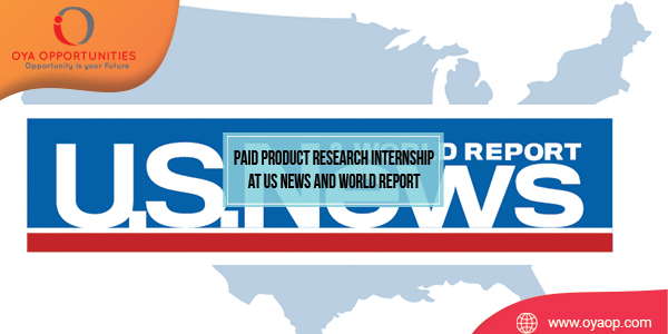 Paid Product Research Internship at US News and World Report
