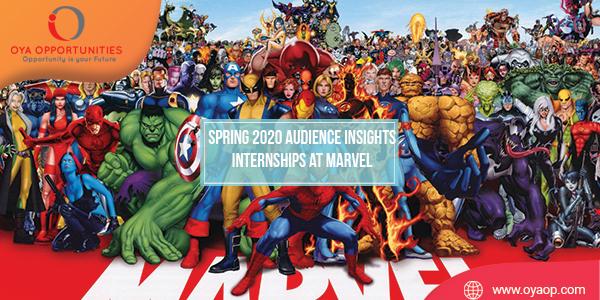Spring 2020 Audience Insights Internships at Marvel