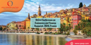 843rd Conference on Economics and Finance Research, 2020, France