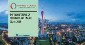 845th Conference on Economics and Finance, 2020, China
