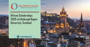 African Scholarships at Edinburgh Napier University