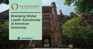 Emerging Global Leader Scholarship at American University