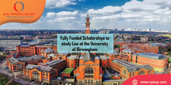 Fully Funded Scholarships to study Law at the University of Birmingham