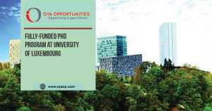 Fully-funded PhD Program at University of Luxembourg