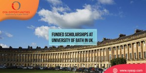 Funded Scholarships at University of Bath in England