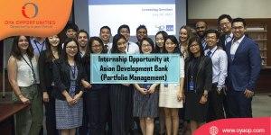 Internship at Asian Development Bank (Portfolio Management)