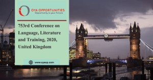 753rd Conference on Language, Literature and Training, 2020, UK