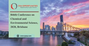 846th Conference on Environmental Science, 2020, Brisbane