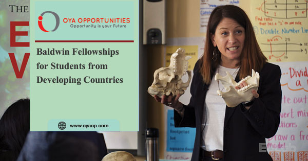 Baldwin Fellowships for Students from Developing Countries