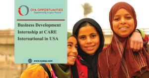 Business Development Internship at CARE International in USA