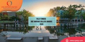 Fully Funded UBC Vantage College Awards