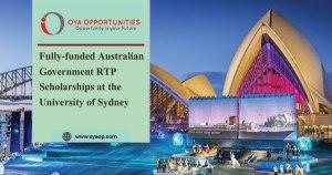 Fully-funded Australian Government RTP Scholarships