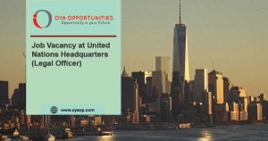 Job Vacancy at United Nations Headquarters (Legal Officer)
