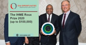 The IHME Roux Prize 2020 (up to $100,000)