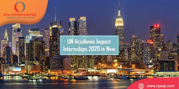 UN Academic Impact Internships 2020 in New York