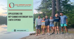 Applications for WFP Summer Internship 2020( with stipend)
