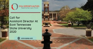 Call for Assistant Director at East Tennessee State University 2020