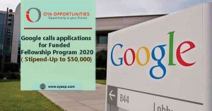 Google fellowship Program 2020