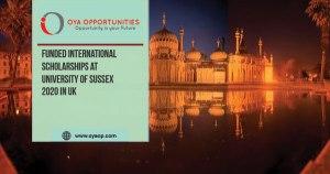 University of Sussex Chancellor's International Scholarships