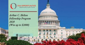 Arthur C. Helton Fellowship Program 2020 ( Win up to $2000)